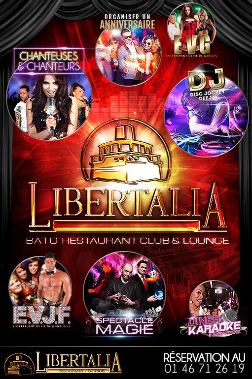 Animations au Libertalia : Chanteurs, Organiser anniversaire, EVG, EVJF, Spectacle Magie, Diner Karaoké, DJ...