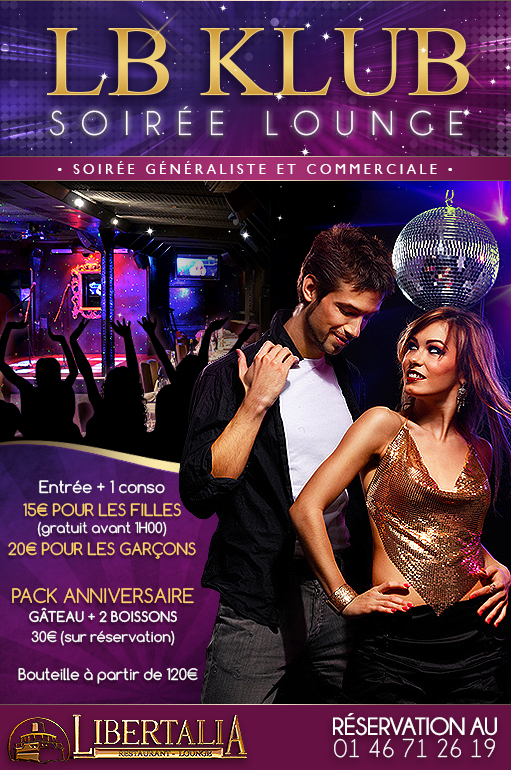 LB Klub soirée Lounge clubbing, généraliste et commerciale restaurant Libertalia